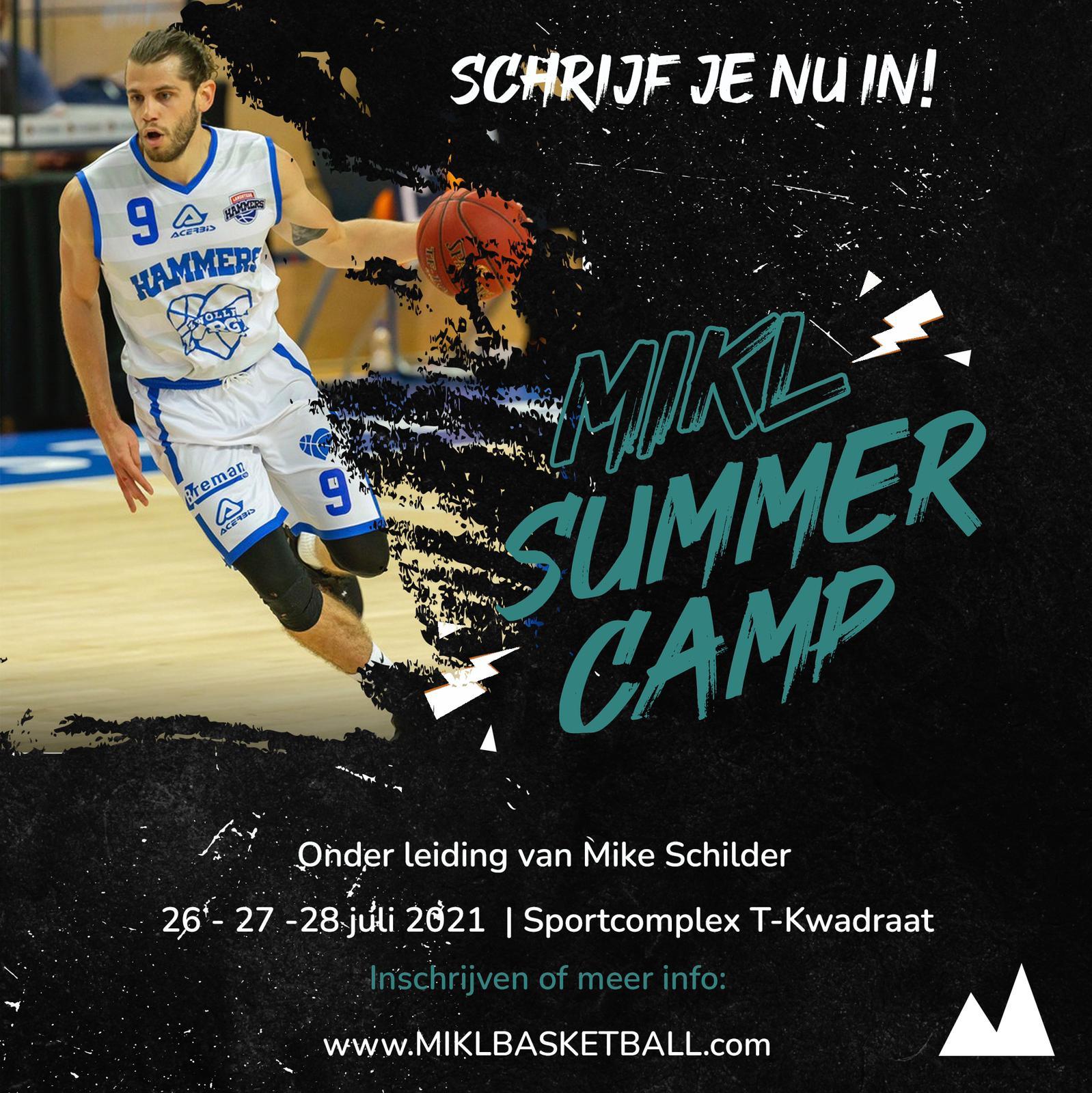 Meld je nu aan voor het MIKL Basketball Camp Tilburg op 26, 27 en 28 juli